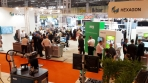Lots of people and exhibition stands