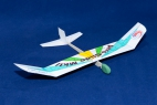 model glider made of card and balsa wood